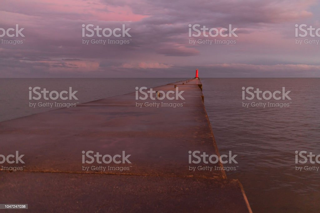 Lighthouse Pier stock photo