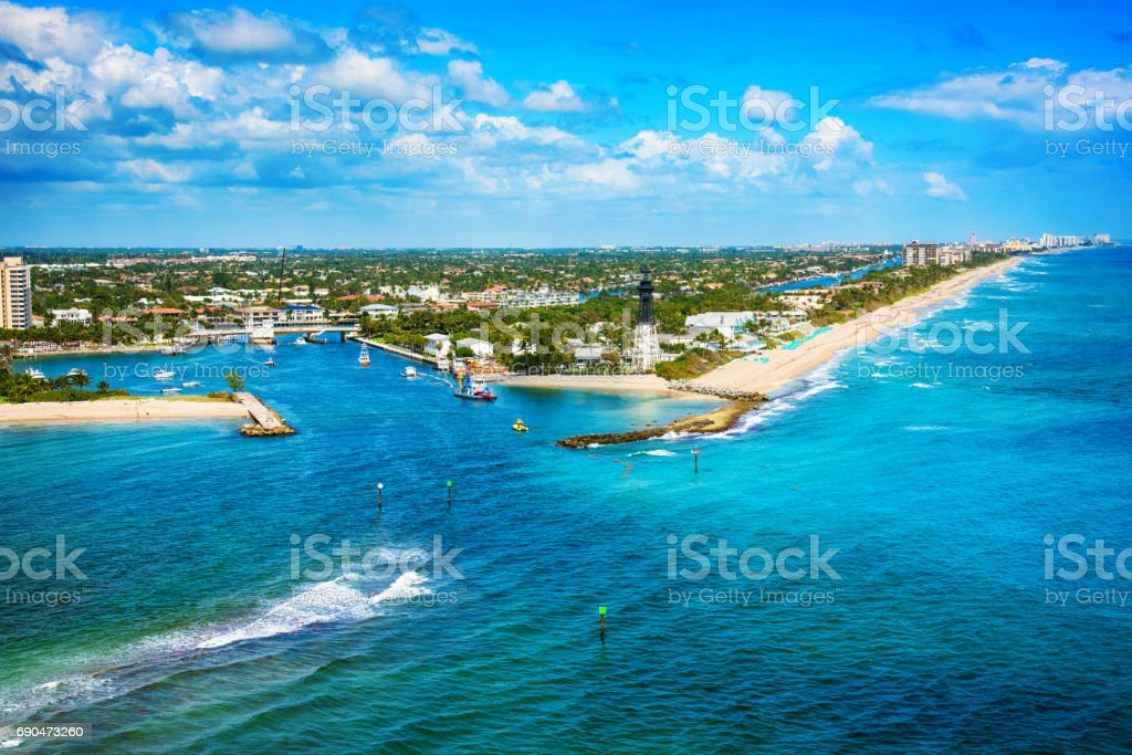 Lighthouse Point at Pompano Beach Florida stock photo