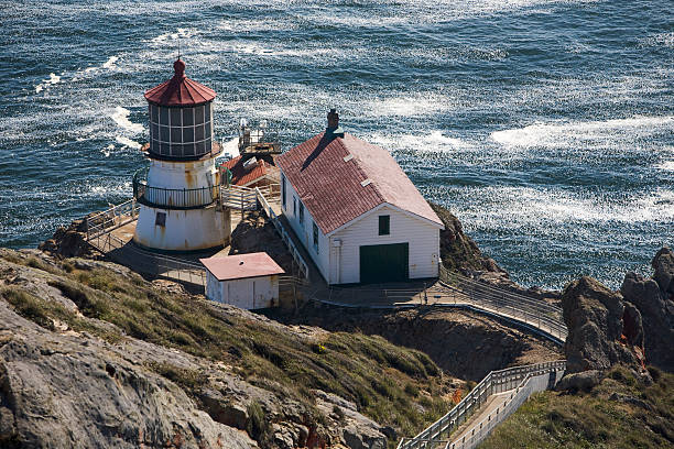 Lighthouse, Point Reyes National Park stock photo