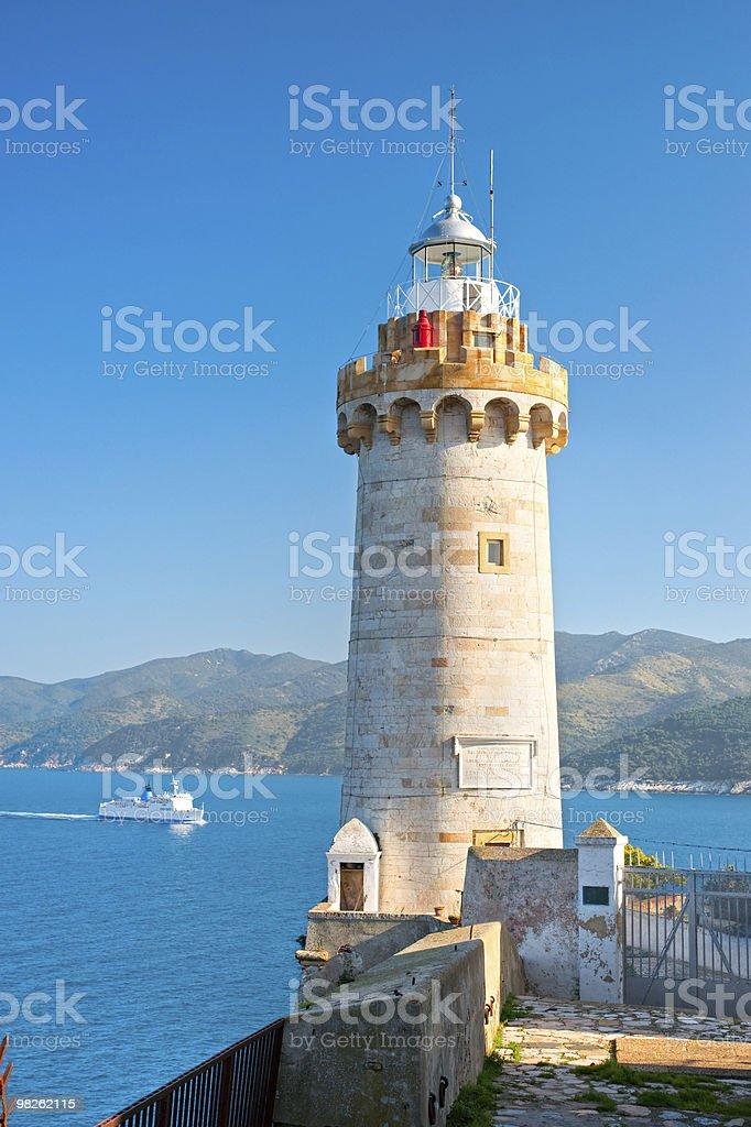 Lighthouse. Portoferraio, Island of Elba. royalty-free stock photo