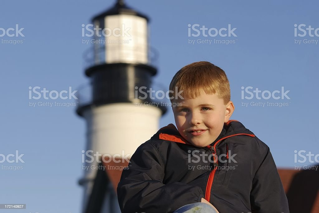 lighthouse portrait stock photo