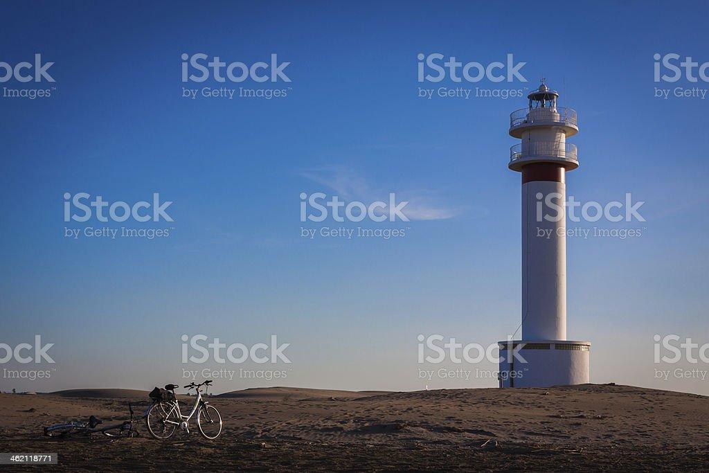 Lighthouse postcard stock photo
