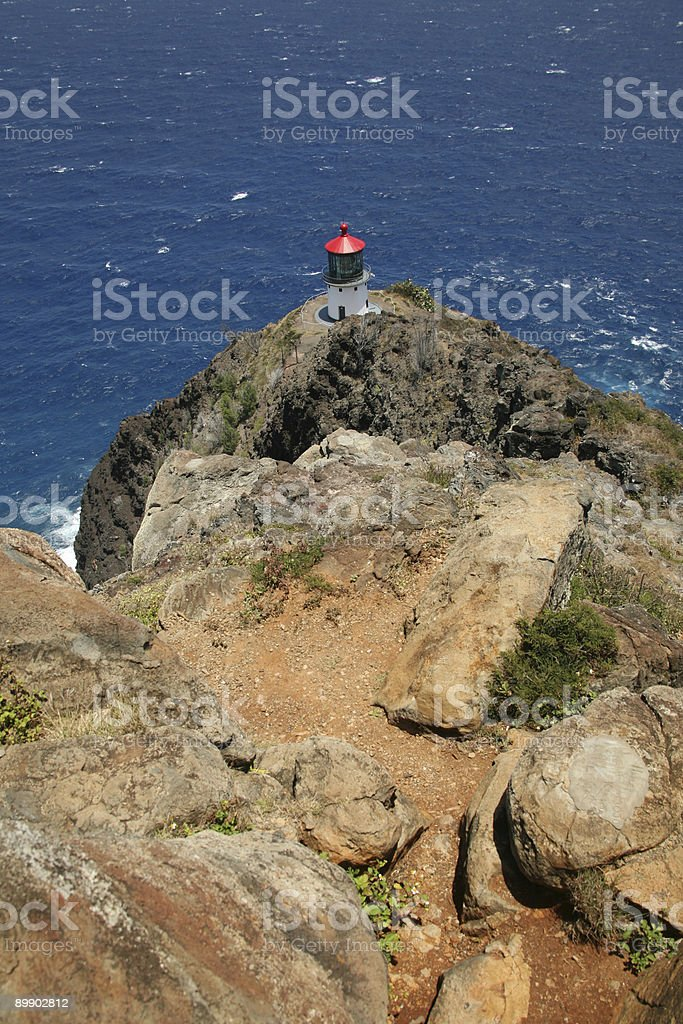 Lighthouse providing safety to the sea. royalty-free stock photo