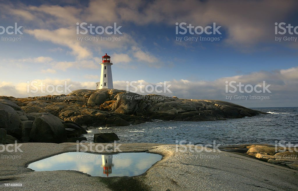Lighthouse Reflection royalty-free stock photo