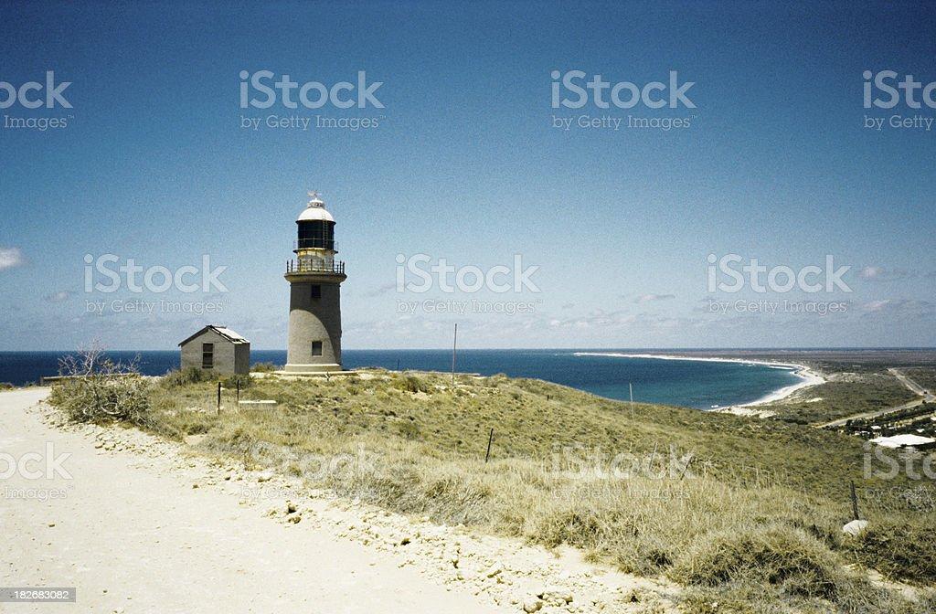 lighthouse shark bay western australia stock photo