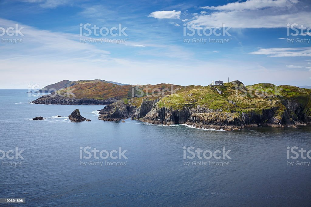 Leuchtturm Sherkin Island Irland stock photo