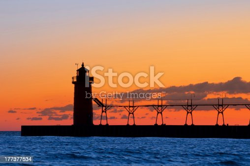 177362898 istock photo Lighthouse silhouette. 177377534