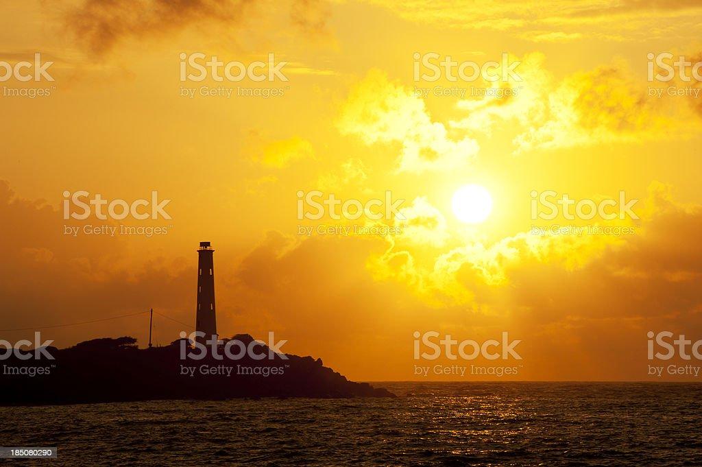 Lighthouse Silhouette stock photo