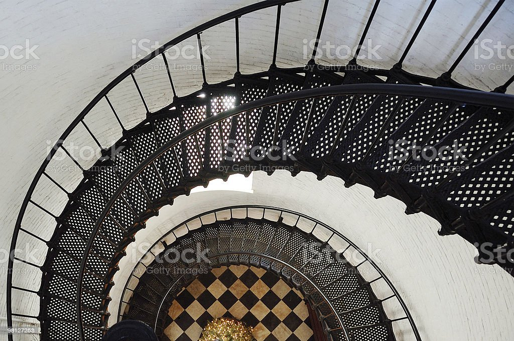 Lighthouse Spiral Staircase royalty-free stock photo
