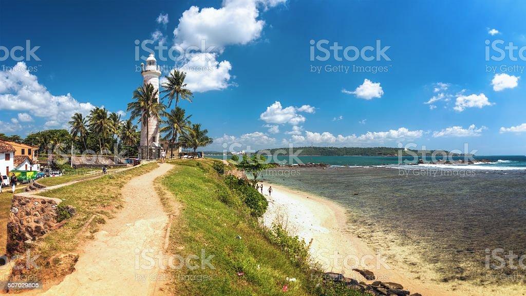 Lighthouse, Sri Lanka stock photo