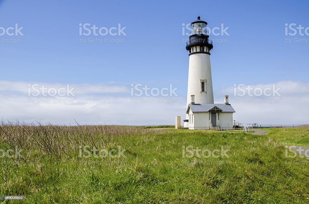 Lighthouse stands tall stock photo