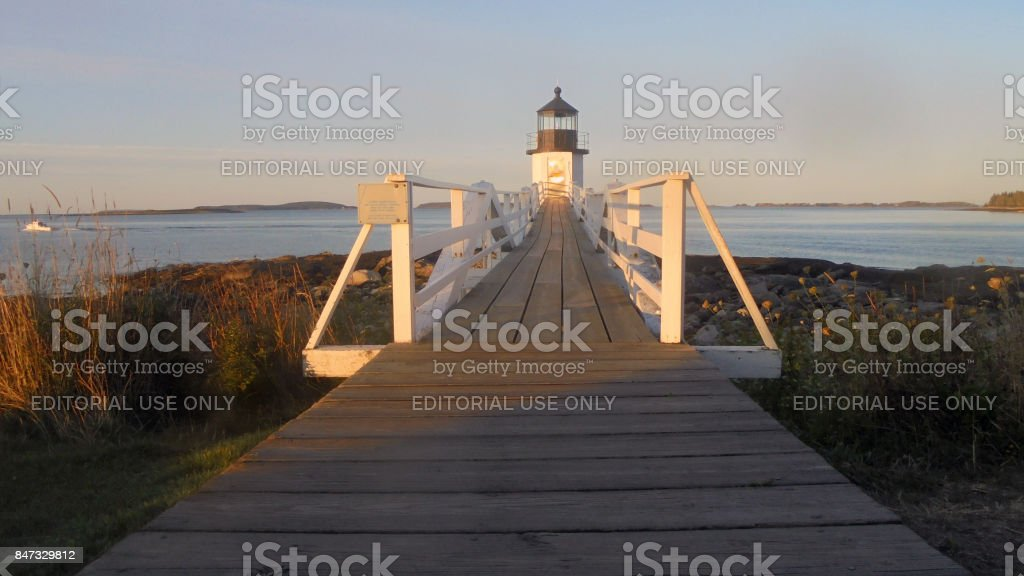 Lighthouse Straight Ahead stock photo