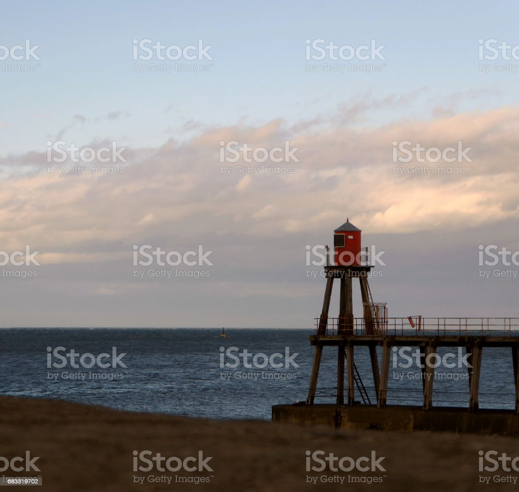 Lighthouse Sunrise royaltyfri bildbanksbilder
