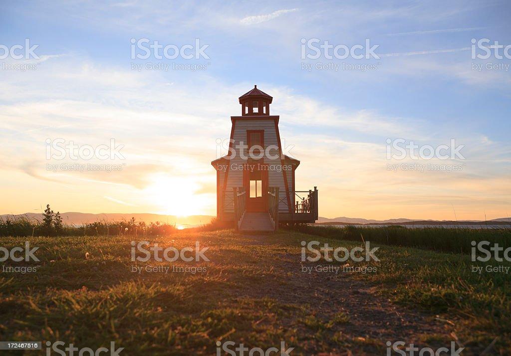 Lighthouse sunset Sky royalty-free stock photo