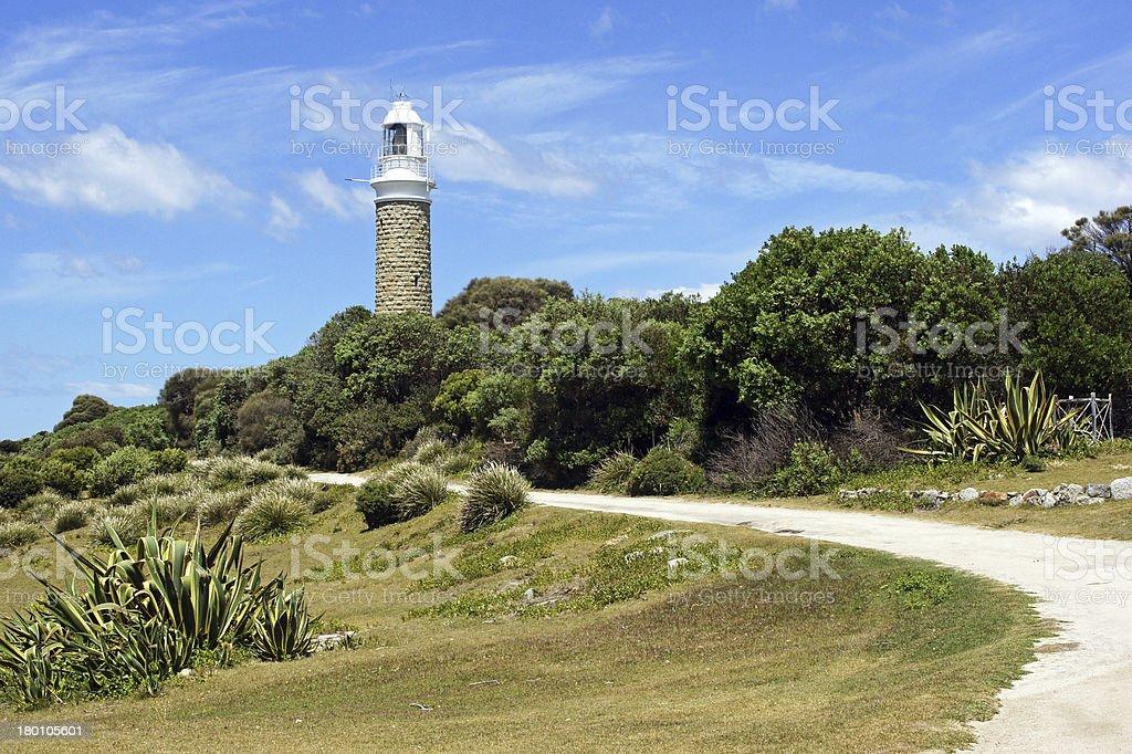 Lighthouse, Tasmania, Australia stock photo