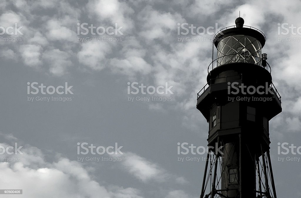 Lighthouse Tower Against Gunmetal Sky royalty-free stock photo