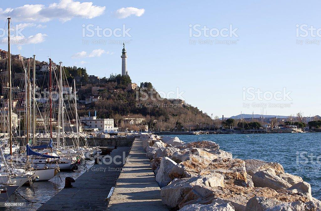 Lighthouse, Trieste stock photo