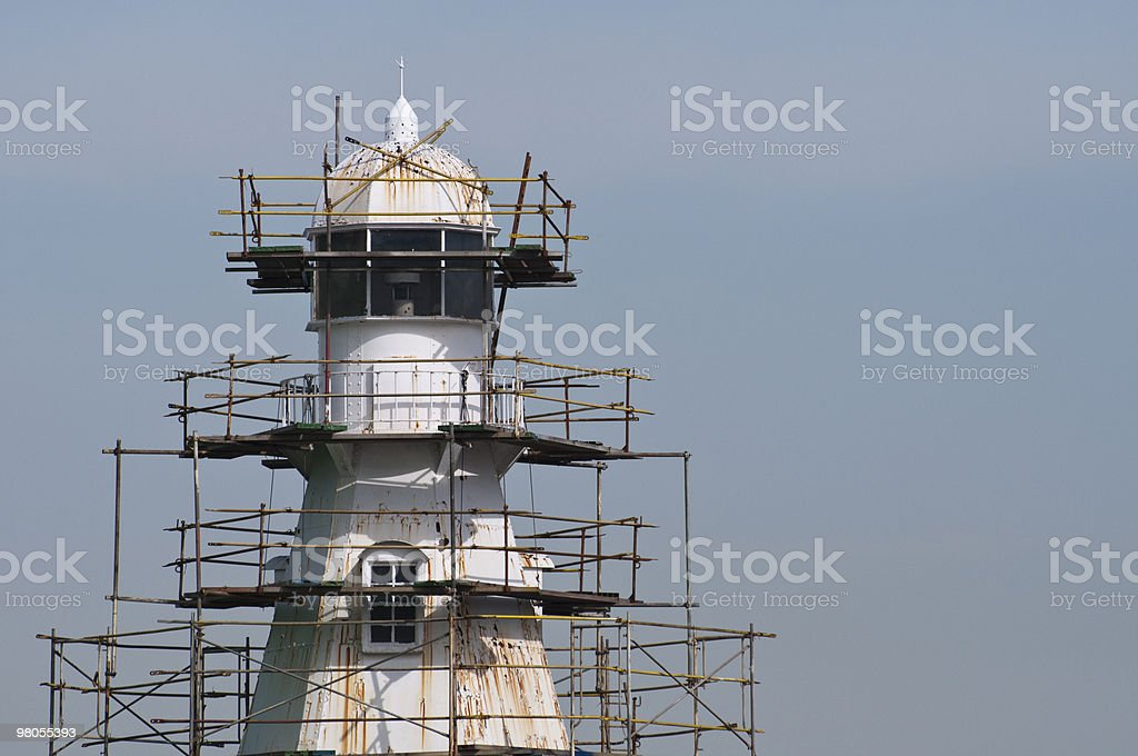 Lighthouse under repair royalty-free stock photo