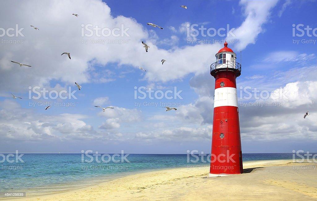 Lighthouse. Westkapelle, Netherlands stock photo