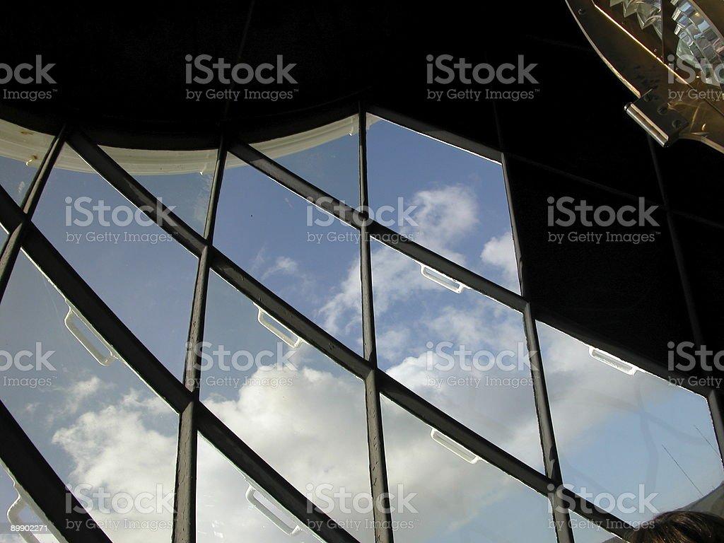 Lighthouse windows royalty-free stock photo