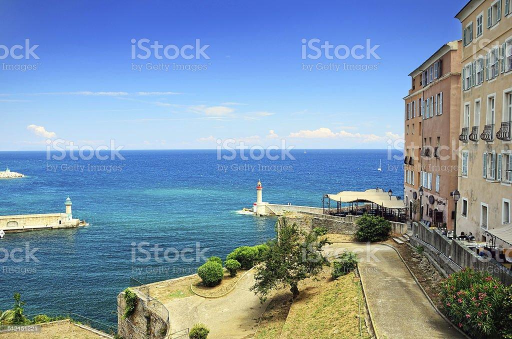 Lighthouses of Bastia stock photo