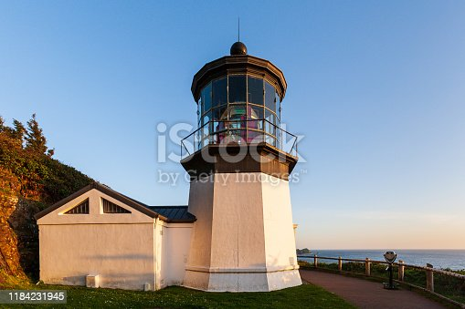 Cape Meares Lighthouse on the Pacific Coast of Oregon.