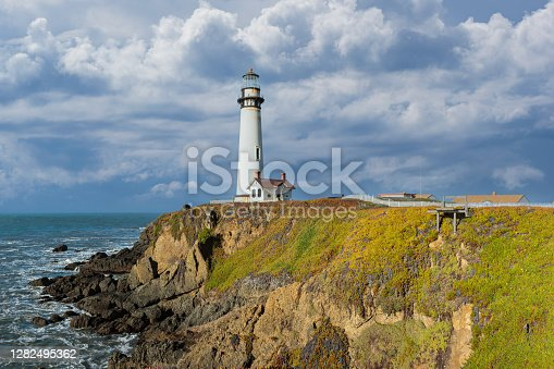 Pigeon Point Lighthouse on the Pacific Coast of California.
