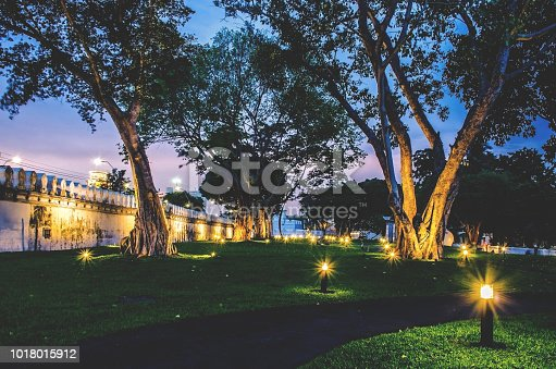 istock lighting along in park in night time, Bangkok, Thailand 1018015912