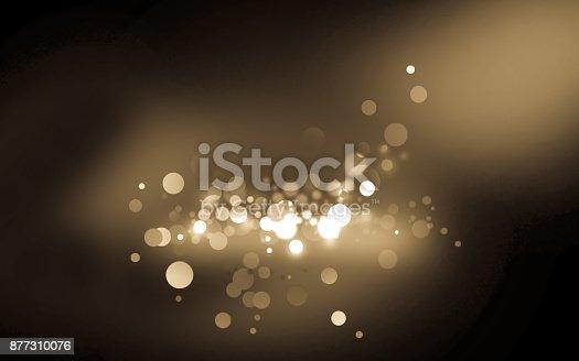 istock Lighting background with light golden bokeh 877310076