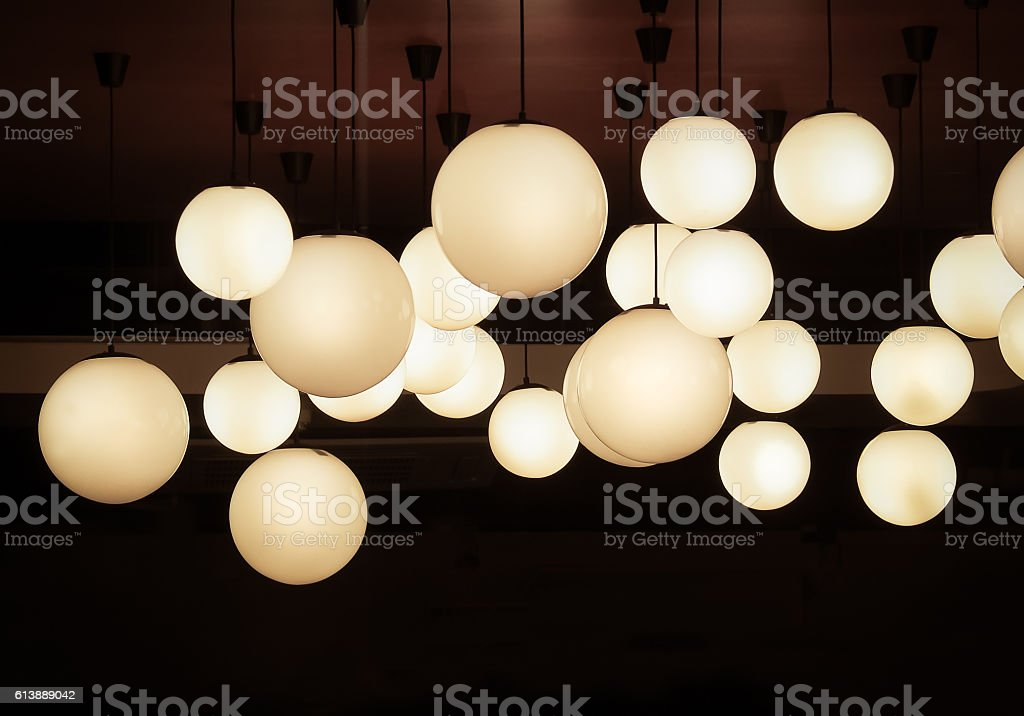 Lighting Ball Hanging From The Ceiling Stock Photo Download Image Now Istock