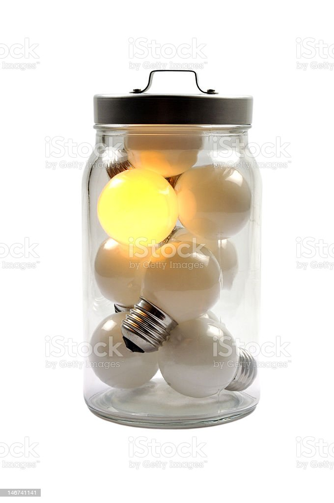 Lighting bulbs royalty-free stock photo