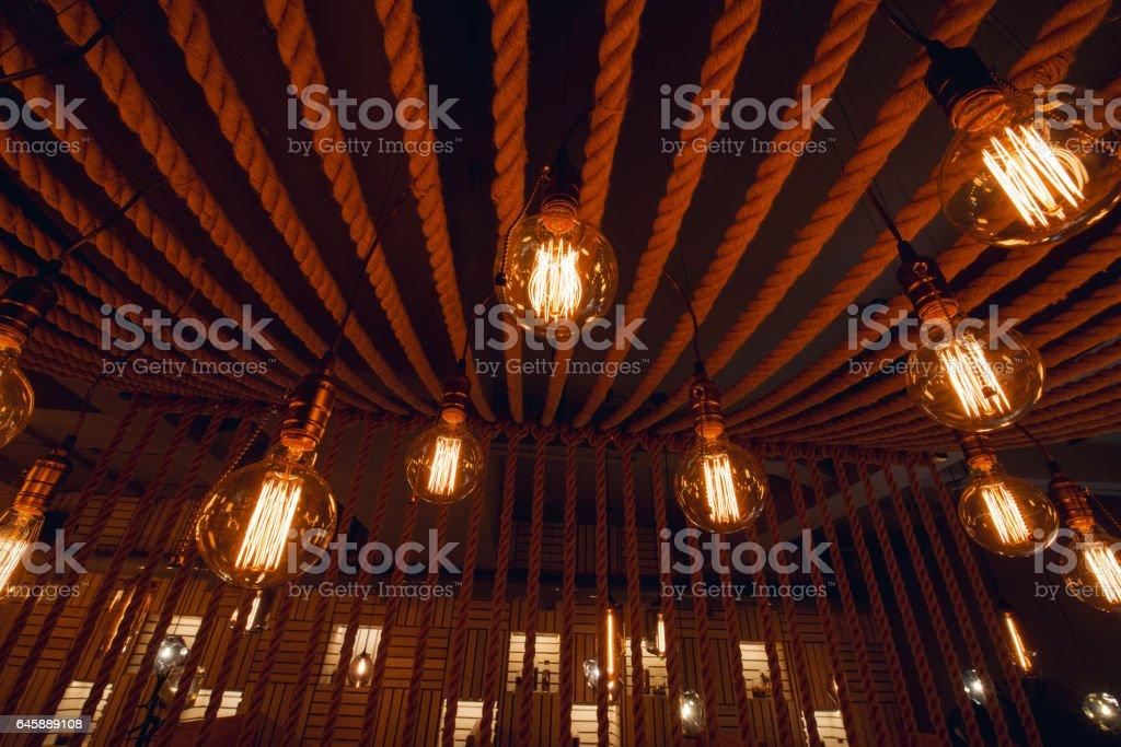 Lighting Decor In Restaurant Stockfoto und mehr Bilder von ...