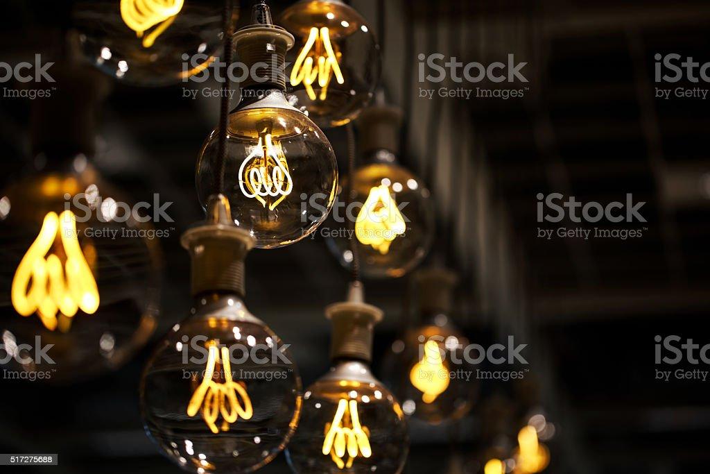Lighting decor macro bildbanksfoto