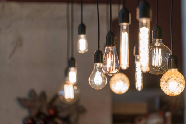 wystrój oświetlenia makro - lampa elektryczna zdjęcia i obrazy z banku zdjęć