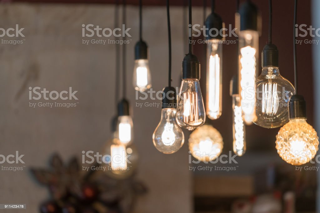 Lighting decor macro stock photo