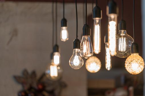 Photo libre de droit de Macro Éclairage De Décoration banque d'images et plus d'images libres de droit de Ampoule électrique