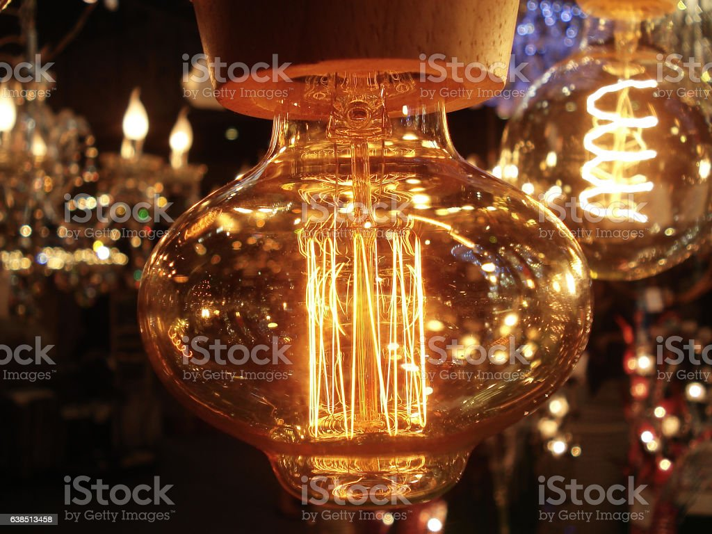 Lighting decor stock photo