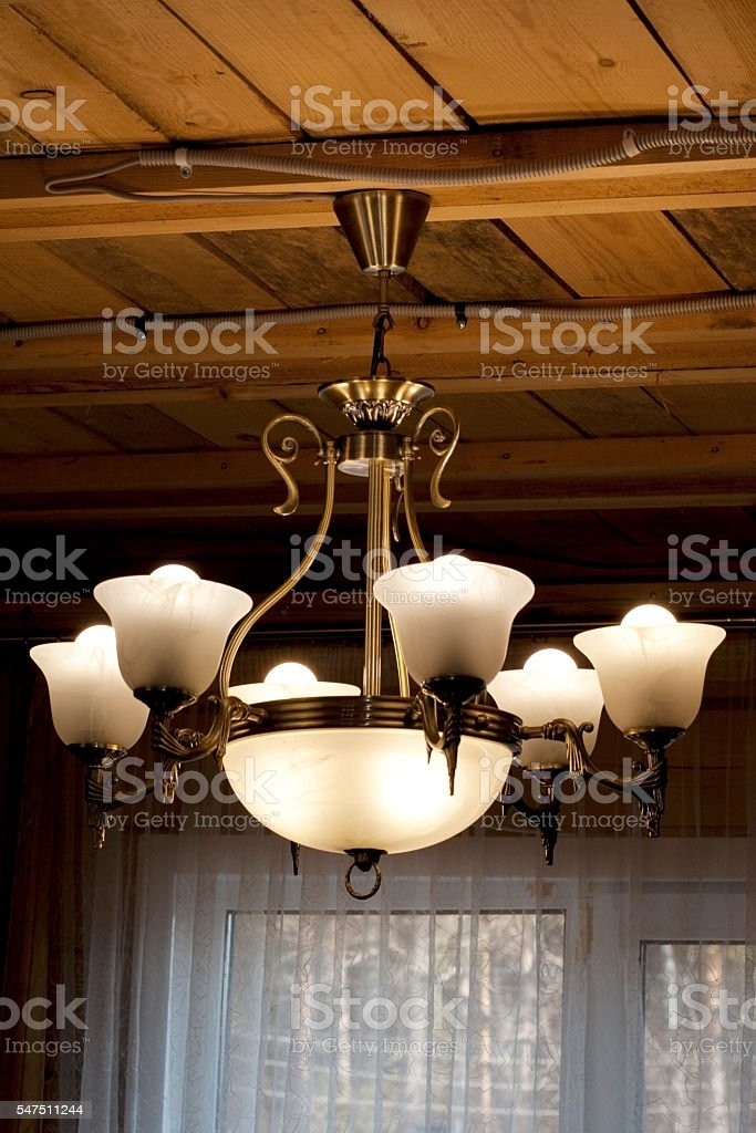 Lighting decor,chandeliers stock photo