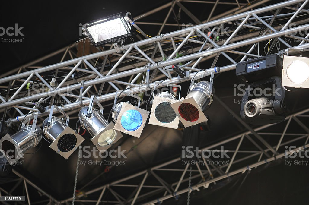 Lighting Equipment on Open Air Concert royalty-free stock photo