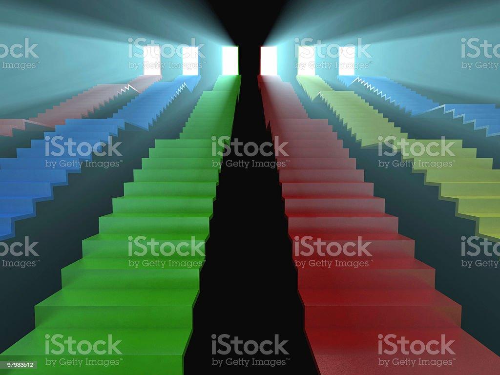 Lighting from door royalty-free stock photo