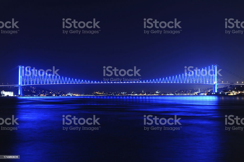 lighting of a bridge royalty-free stock photo