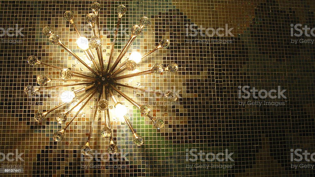 Lighting on a wall royalty-free stock photo