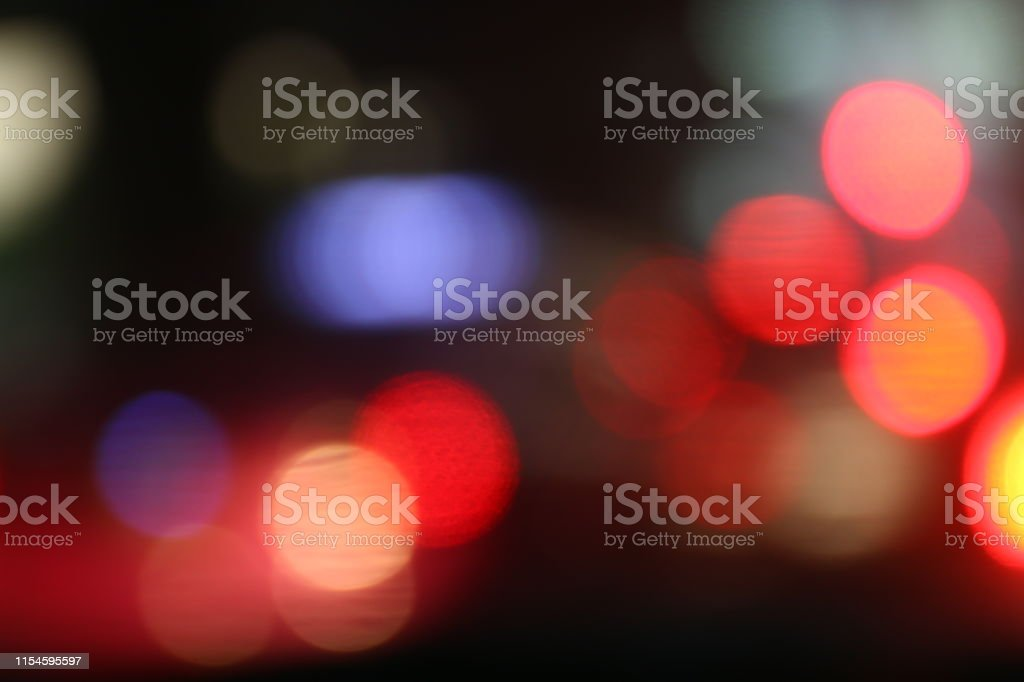 lighting red bokeh background black luxury night abstract multicolor...
