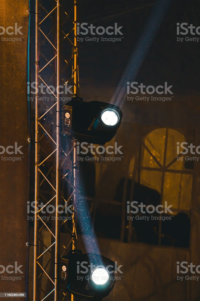 Lighting Spotlights On Stage During Performance With Rays Stock Photo Download Image Now Istock