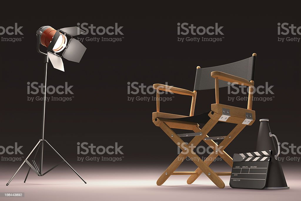 Lighting The Director stock photo