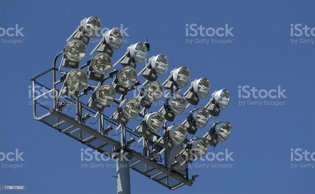 Lighting Up the Ballfield royalty-free stock photo