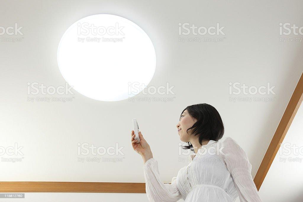 Lighting & Women stock photo