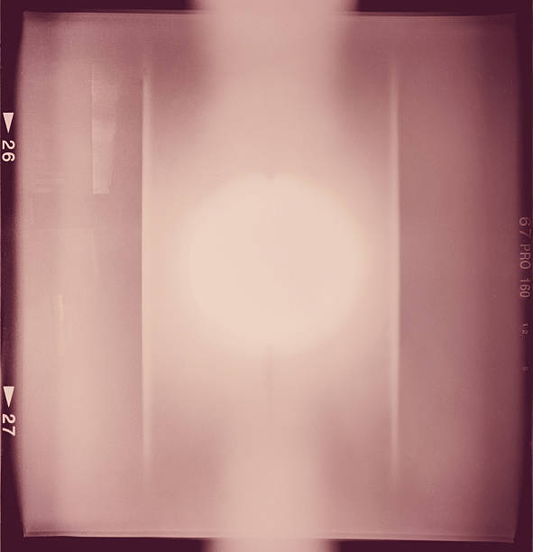 Lightleaked film-frame – Foto