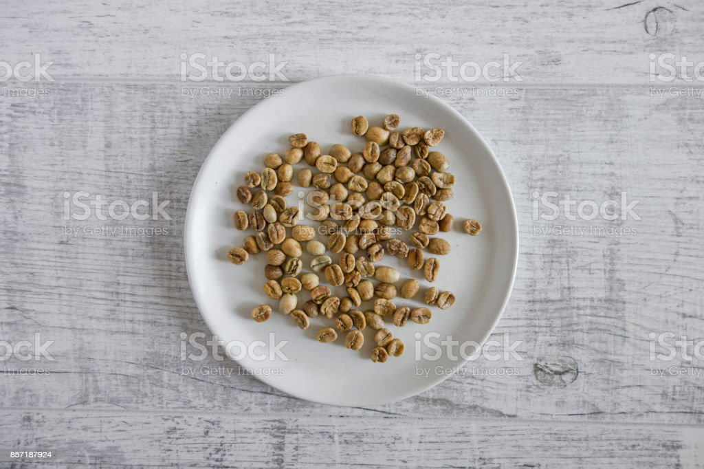 lightly roasted coffee beans stock photo