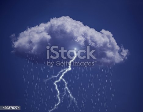 503731700 istock photo Lightning and  Rainy sky 499376274